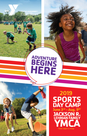 Jackson R. Lehman Family YMCA Day Camp Brochure cover.