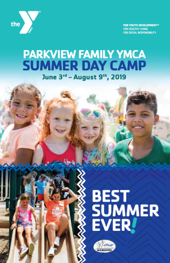 Parkview Family YMCA Summer Day Camp brochure.